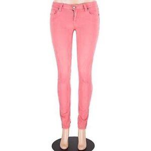 [PAIGE] Salmon Pink Ultra Skinny Jeans